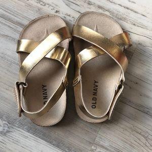Old Navy gold sandles